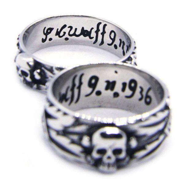 2 pçs / lote tamanho 6-13 Unisex Fresco Crânio Anel de Aço Inoxidável 316L Moda Jóias Design Pessoal Na Caveira anel