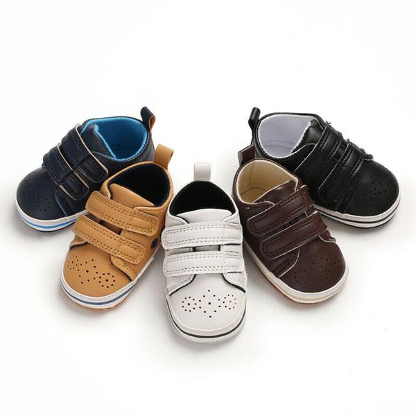 Yenidoğan Erkek Bebek Kız Beşik Ayakkabı Deri Bebek Yürüyor Öncesi Walker Sneakers