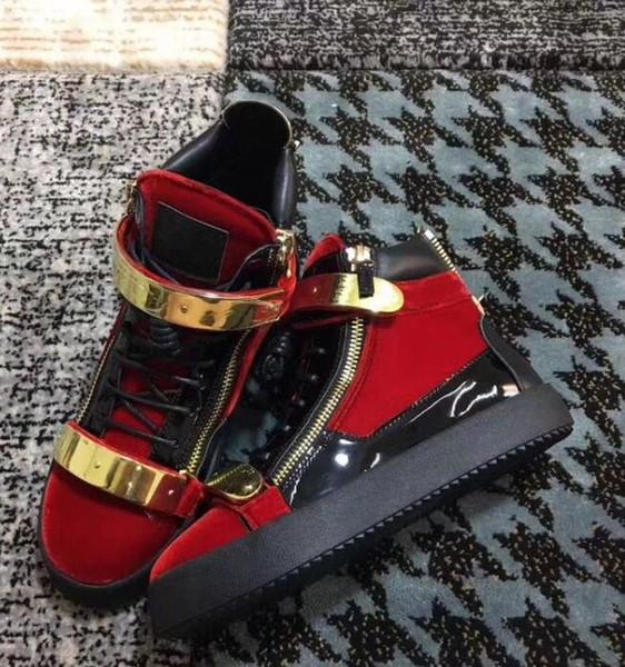Diseñador Clásico Hombre mujer Zapatillas Kanye West Hombre Arena Zapatos Runaway Trainer Moda Cuero arrugado High Top Lace Up chao1889765605