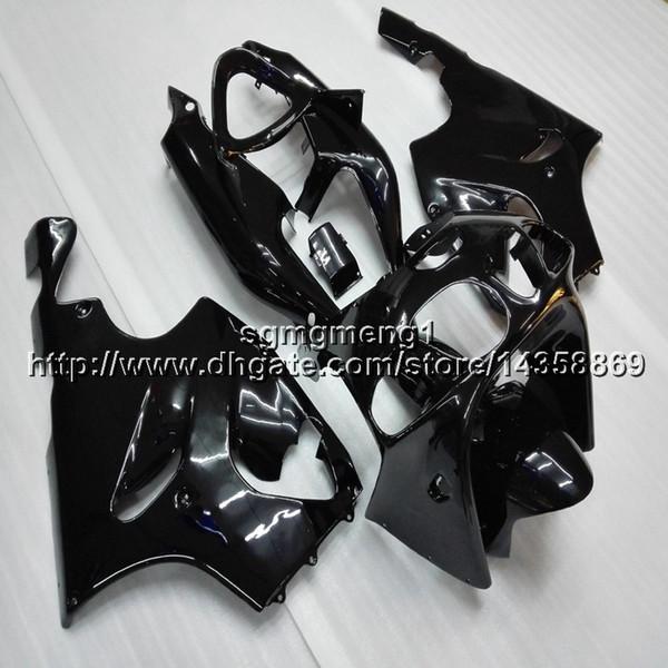 23colors + Botls cofano moto nero per Kawasaki ZX-7R 1996 1997 1998 1999 2000 2001 2002 2003 Carena motore ABS