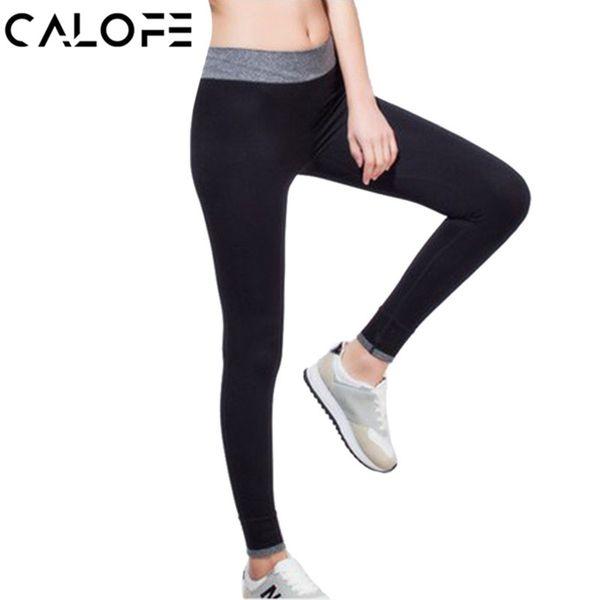 CALOFE Ginásio de Fitness Sexy Legging Cintura Alta Exercício roupas Para As Mulheres Quentes Calças de Yoga Treino das Mulheres Vestuário de Treino Justas # 982226