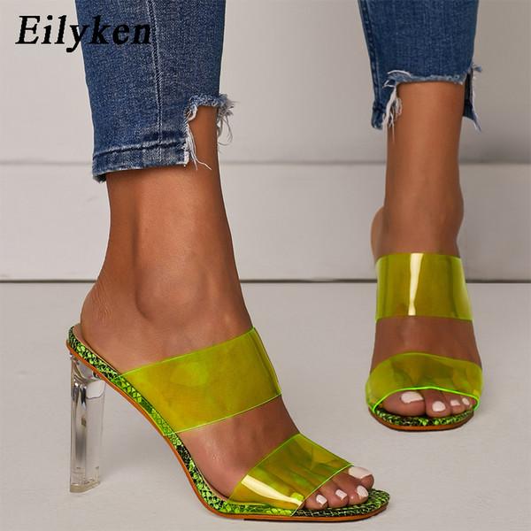 3e67c2391a Eilyken PVC Transparent Slippers Open Toes Sexy Serpentine High Heel  Crystal Women's Shoes Transparent High Heels 11cm Slippers