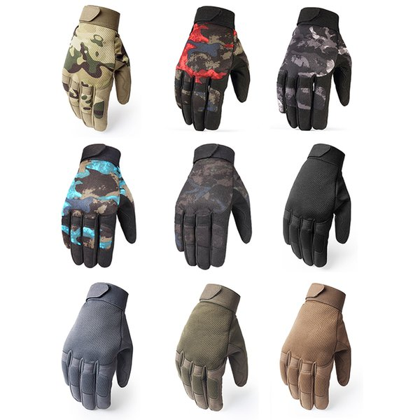 Outdoor Tactical Gloves Army Bicycle Hiking Climbing Shooting Paintball Camo Sport Full Finger Gloves