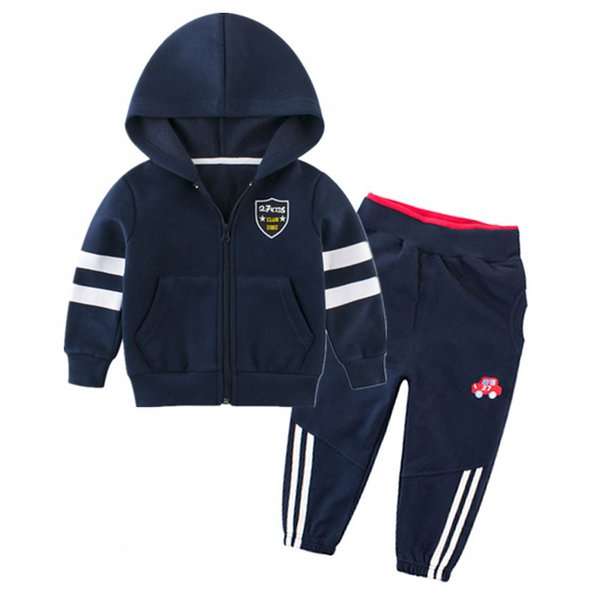 Kids Clothes for Baby Boys 2 4 6 8 10 Years Long Sleeve Zipper Jacket and Pants Set Boys Kids Hoodies Coats Tracksuit Children