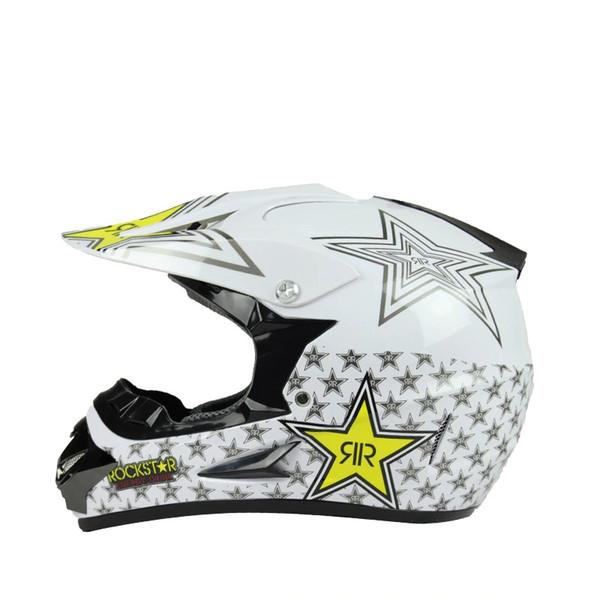 best selling hxlmotostore Rockstar motorcycle helmet ATV Dirt bike downhill cross capacete da motocicleta cascos motocross off road helmets
