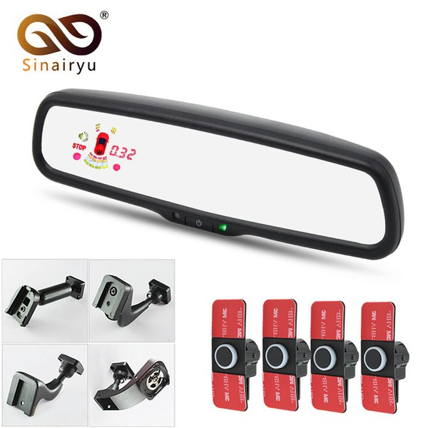 Sensor de estacionamiento de monitoreo de espejo retrovisor de 12 pulgadas Sinairyu con soporte original 16mm sensor de radar plano para automóvil