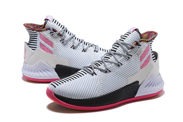 Hot D Rose 9 Pink home shoes saless With Box Derrick Rose Basketball shoes store free shipping size40-46