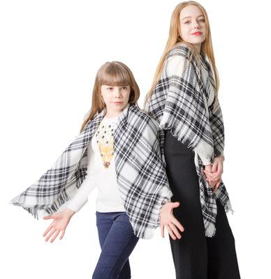best selling Parent-child plaid scarf imitation cashmere plaid square scarf shawl collar children men and women scarf EEA511