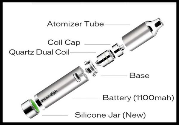 воск травы Vape ручка электронной сигареты стартовый комплект лучший воск перо yocan эволюционировать плюс комплект 1100mAh портативный мазок пера кварца катушки нагрева электронной сигарету