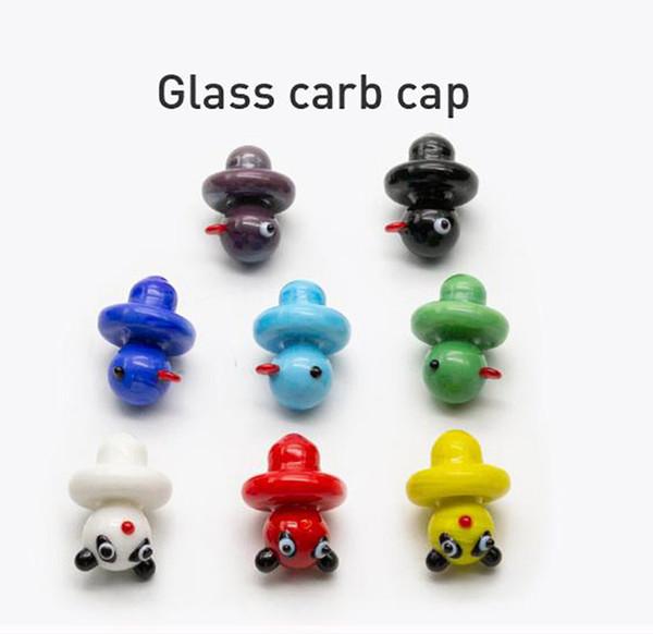 Nuovo arrivo Anatra di vetro a forma di Carb Carb Caps Cap di alta qualità per vetro Blunt tubo di acqua Bong