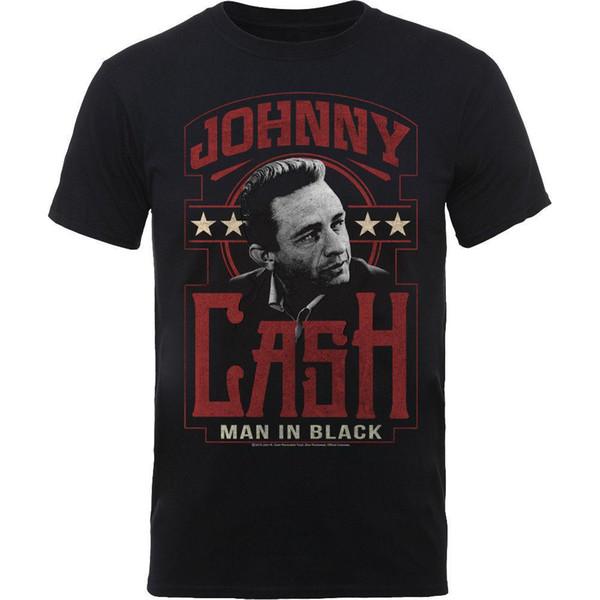 Johnny Cash Man In Black Country Rock Licensed Tee T-Shirt Men