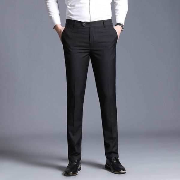 juego delgado pantalones separados hombres de la manera formal de negocio de la boda pantalones de los hombres rectos de luz pantalones de vestir grises fina de oficina