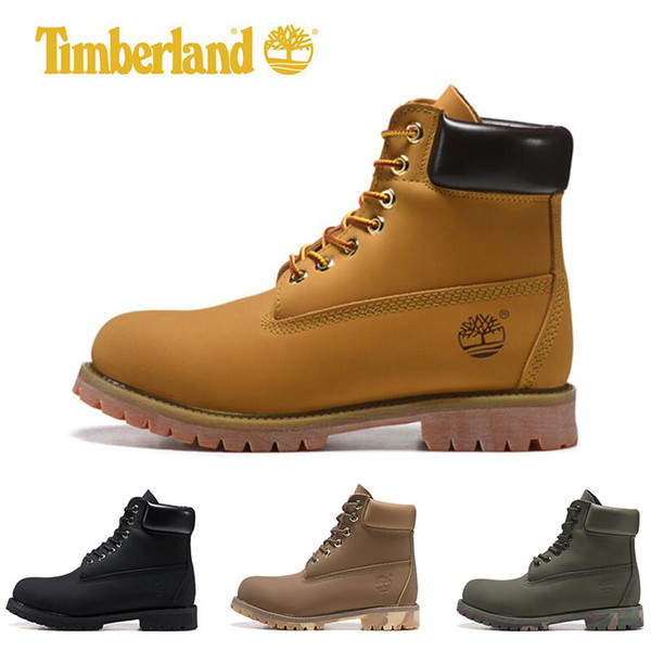 Timberland designer Mens boots Military Women Chestnut Triple Black White Camo Hiking leather ankle Boot fashion ports sneakers size 36-45