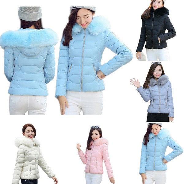 best loved sells professional sale 2018 Hot Womens Ladies Quilted Winter Coat Puffer Fur Collar Hooded Jacket  Parka Size From Dong1242, $34.16 | DHgate.Com