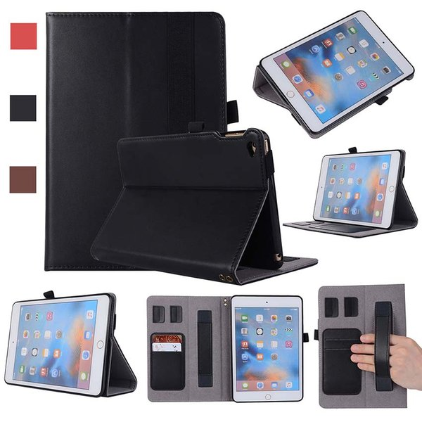 Classic Genuine Leather Cover Case For iPad Mini 4 with Stand Shockproof Leather Tablet Case Flip Cover Shell