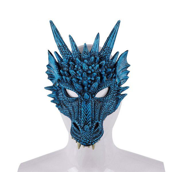 Mardi Gras PU Foamed 3D Animal Loong Chinese Dragon Mask Cosplay Costume Christmas Halloween Carnival Party For Men Women