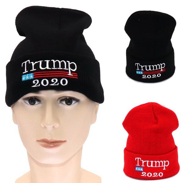 트럼프 2020 선거 도널드 트럼프 모자 모자 성인 스포츠 니트 겨울 다시 모자 2 색