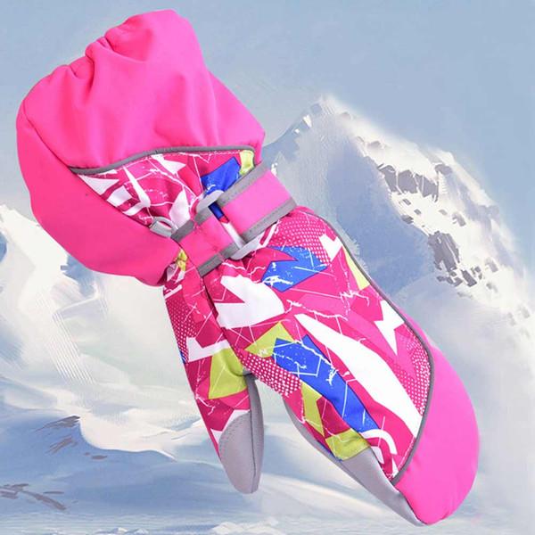 Children Winter Warm Kids Ski Snowboard Gloves Windproof Waterproof Boys Girls Mittens Motorcycle Outdoor For Riding Use