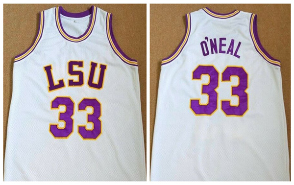 buy popular 148d1 f51e0 2019 Shaq Shaquille O'Neal #33 LSU Tigers College White Retro Basketball  Jersey Mens Stitched Custom Any Number Name Jerseys From Yufan5, $23.35 |  ...