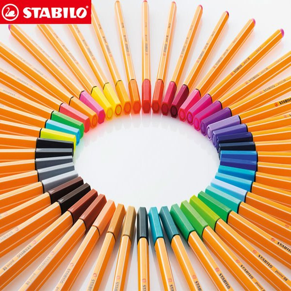 best selling 25pcs STABILO Point 88 Fineliner Fiber Pen Art Marker 0.4mm Felt Tip Sketching,Anime,Artist Illustration,Technical Drawing Pens C18112001