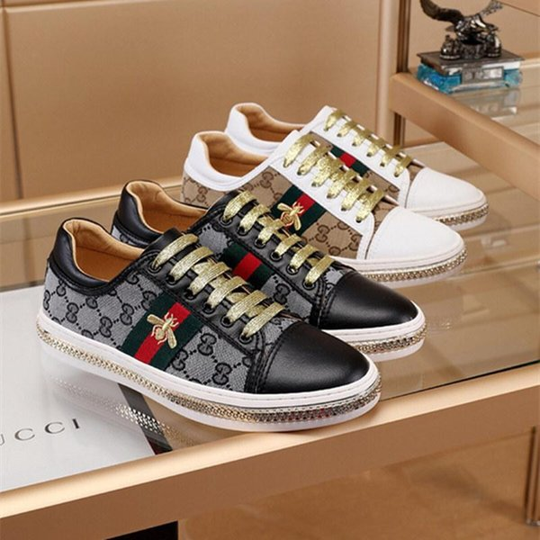 Italion Find Similar Designer Low Snake Tiger Bee Printing Sneakers Casual Shoes Luxury loafers Trainers Driving