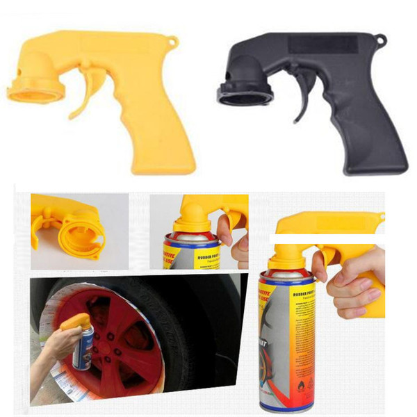 best selling Spray Adaptor Paint Care Aerosol Spray Gun Handle with Full Grip Trigger Locking Collar Car Maintenance