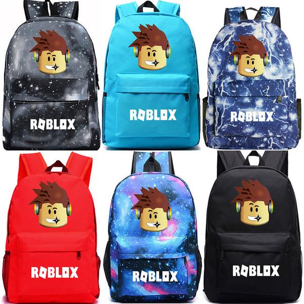 2018 New Cartoon Galaxy Roblox Games Letter Boy Girl School Bag Women Bagpack Teenagers Schoolbags Canvas Men Student Backpacks Y19061102
