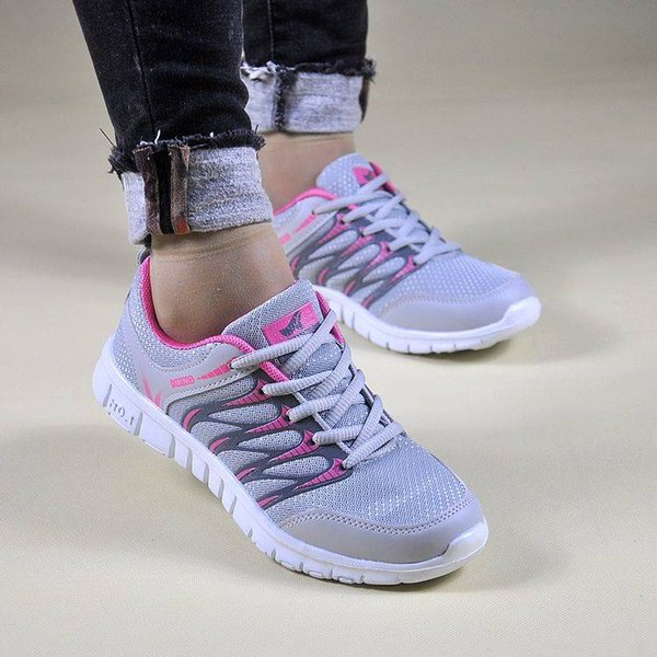 top popular Spring and autumn models breathable sports shoes Korean fashion wild running students casual tide shoes dance shoes 2019
