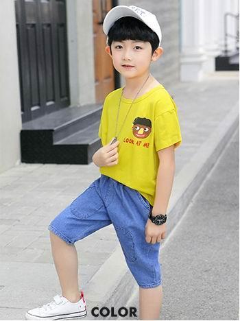 Children 039 clothing boy ummer hort leeved uit 2019 new ummer big children children boy port foreign ga two piece