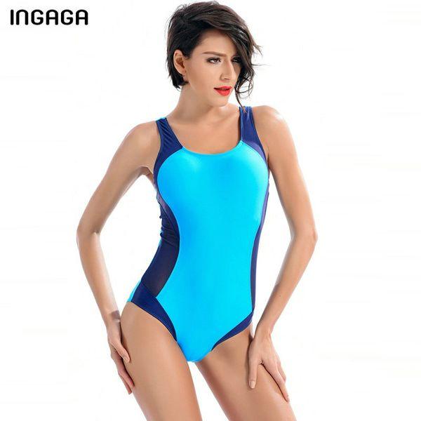 design senza tempo cd62b c141f Acquista INGAGA Costume Intero Sportivo Costumi Da Bagno Donna ...