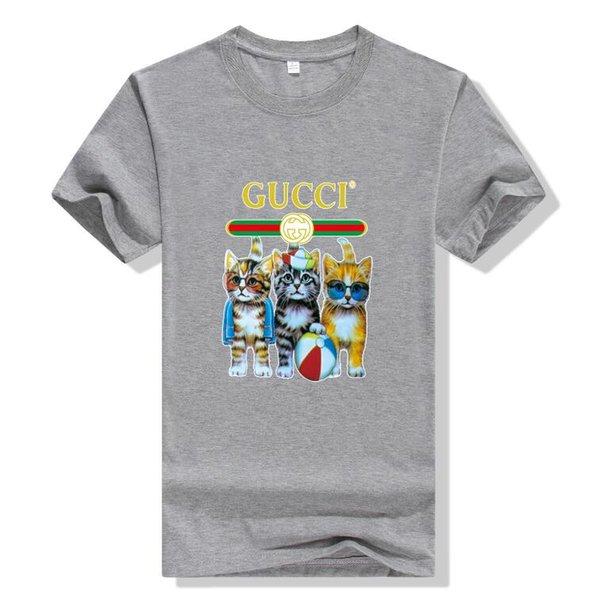 GUCCI Оптовая продажа моды для мужчин и женщин с короткими рукавами дизайнер футболки шею высокого качества мужская повседневная бизнес спортивная одежда