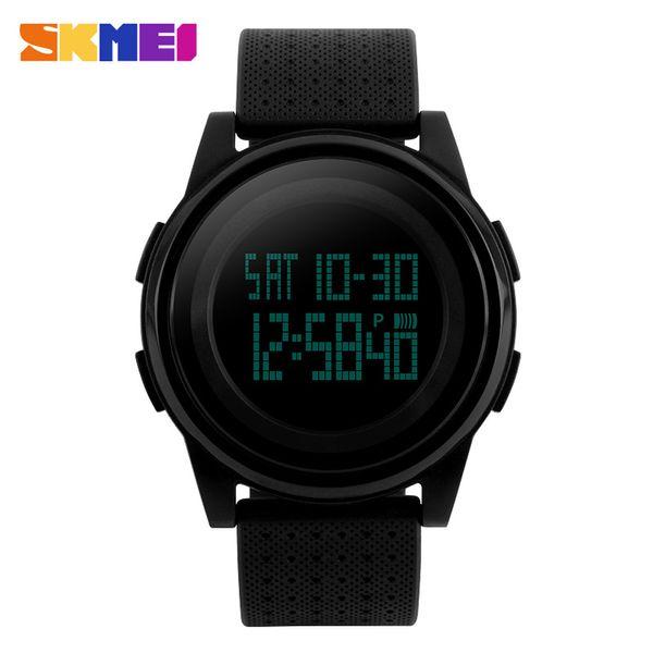 SKMEI Мужчины 5ATM-Брелок водостойкой спортивные часы моды цифровой Повседневный Спорт Классный Легкий календарь Наручные часы