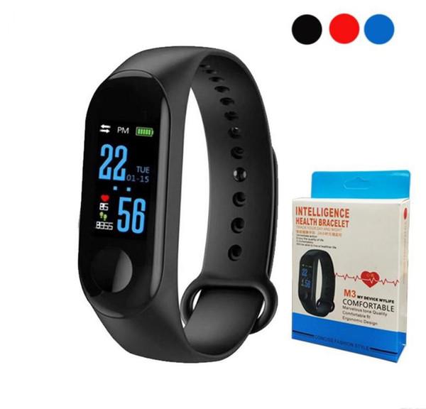 M3 Smart Band Bracelet Heart Rate Watch Activity Fitness Tracker pulseira Relógios reloj inteligente PK fitbit XIAOMI apple watch