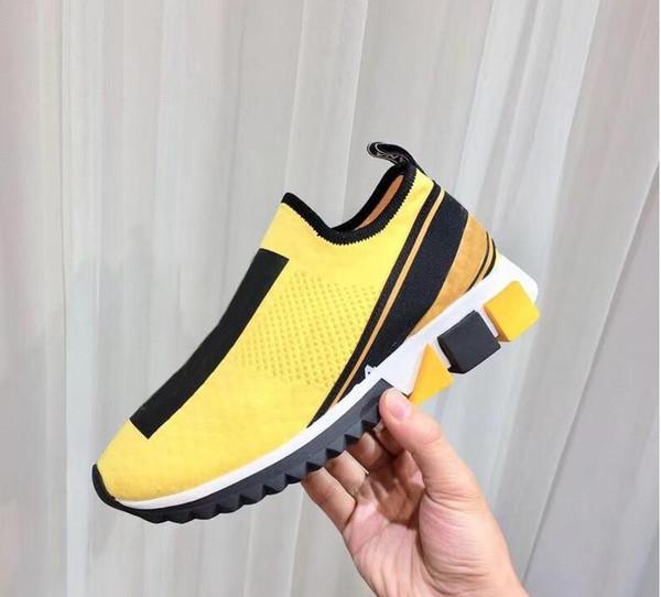 Высокие качество тренер Скорости Повседневные обуви Люди Женщина Носок Boots Stretch-Knit Casual Boots Race Runner Sneaker 35-46