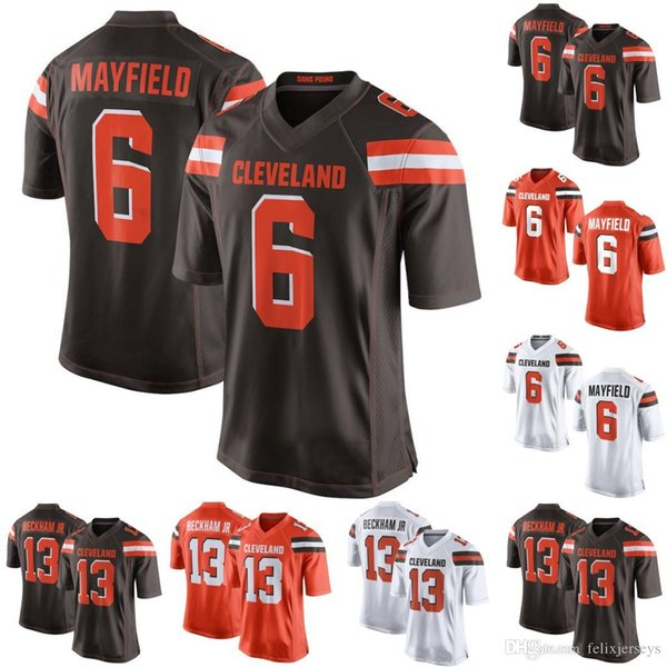 f7e70bbce94 Men Women Youth Cleveland 6 Baker Mayfield 13 Odell Beckham Jr Browns  Football Jersey Free Shipping