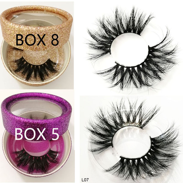 25MM long hair Eyelashes 100% 3d Mink eyelashes 3D Mink 25mm long lashes product Private label custom boxes for wholesale order L07