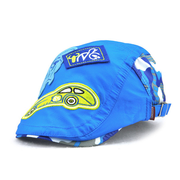 New children's hat Korean version of the cartoon small steam cap dry cap ventilation speed boys and girls wholesale