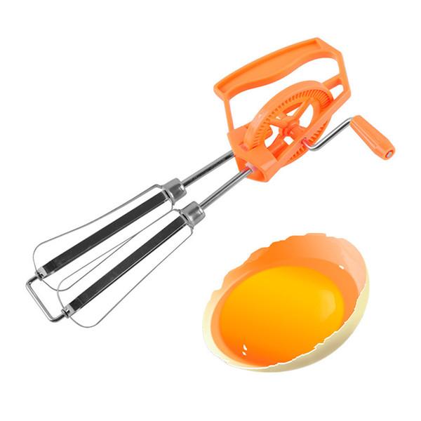 Strumenti creativo manuale Uova Beaters agitatore a doppia testa rotante uovo latte FOAMER Caffè Cibi miscelatore per la cucina gadget Accessori