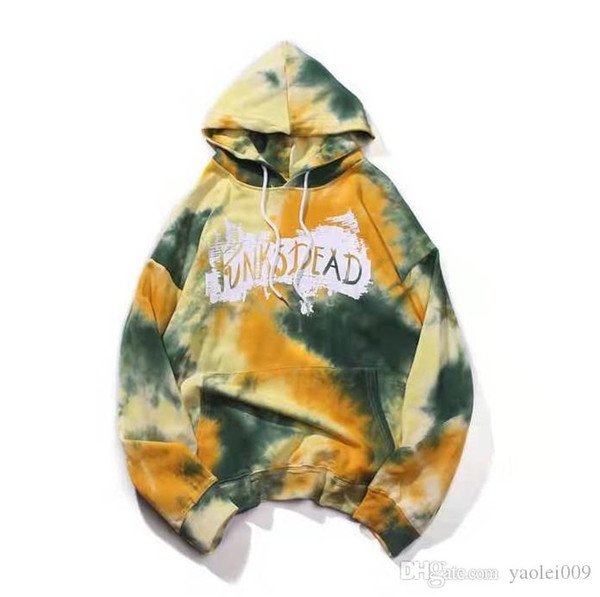 Luxury mens hoodies fashion pattern original tie-dyed hooded sweater black loose shoulder cotton best selling designer hoodies trend street