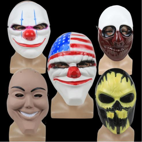 Free shipping Halloween Party Movies Game Clown Masks for Masquerade Party Scary Clowns Mask Payday 2 Halloween Horrible Mask