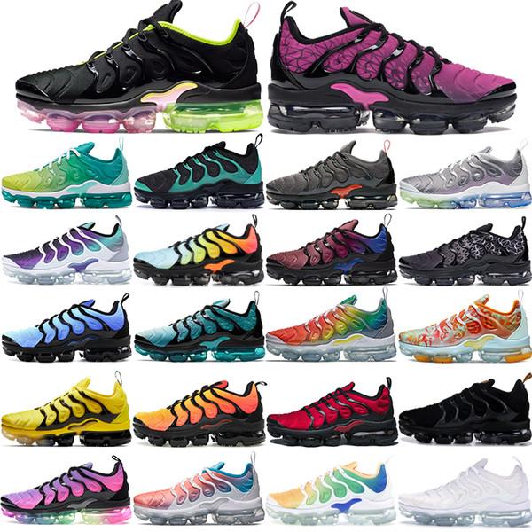 2020 yeni varış ruhu teal Izgara Baskı limon kireç Aktif Fuşya olimpiyat mens TN Artı koşu ayakkabıları gerçek erkekler kadınlar tasarımcı sneakers olabilir