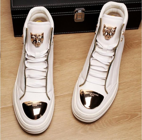 1be8c1346330b4 2019 Frühling Neu kommen Luxus Männer Schuhe Sneakers Trend Reißverschluss  Dekoration Freizeitschuhe 889