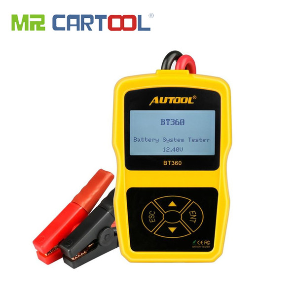 BT360 Car Battery Tester Auto Scanner 12V Analyzer Vehicle Automtive Cranking Charging CCA BAD Cell Test digital Diagnostic Tool