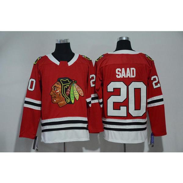 Mens Chicago Blackhawks BRANDON SAAD Local Visitante Rojo Blanco Jersey de hockey Todos los jugadores