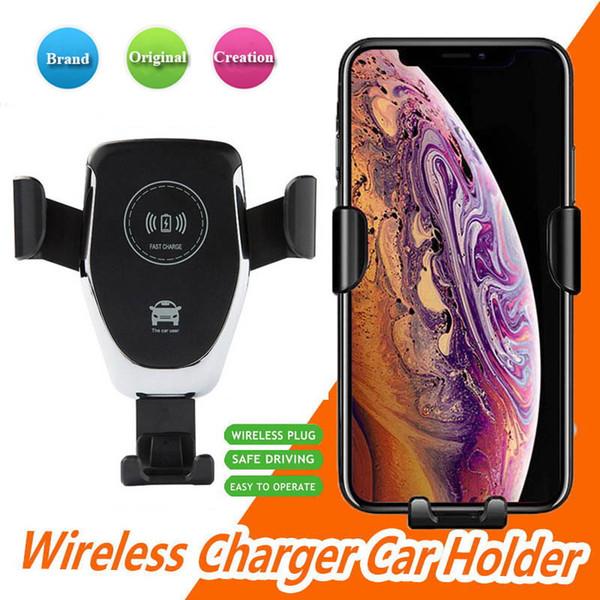 Caricabatterie wireless QI Caricabatterie veloce senza fili per cellulare Caricabatteria per auto compatibile con caricabatterie per gravità