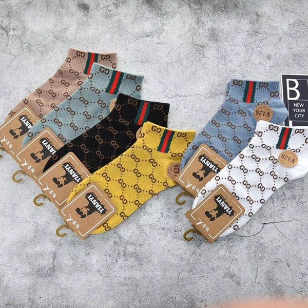 women designer socks new explosion models sports couple sock foreign double boat socks Europe and the t socking cotton
