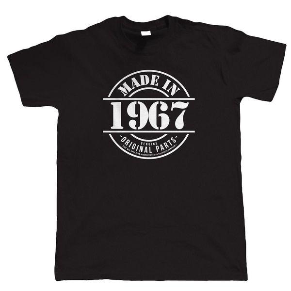 Сделано в 1967 году Мужская забавная футболка, подарок 50-летию для Него, папа