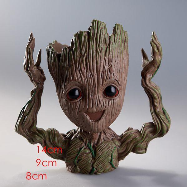 Baby Groot Flower Planter Pot Guardians of the Galaxy Garden Flower Plant Pot Cute Toy Groot Pen Pot Holder Doll Toy