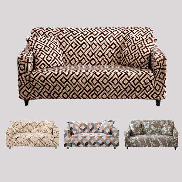 L Shaped Sofa Cover Spandex Slipcover Sofa Set Covers Elastic Covers For  Living Room Housse Canape Sectional Couch Cover Chair Covers And Sashes For  ...