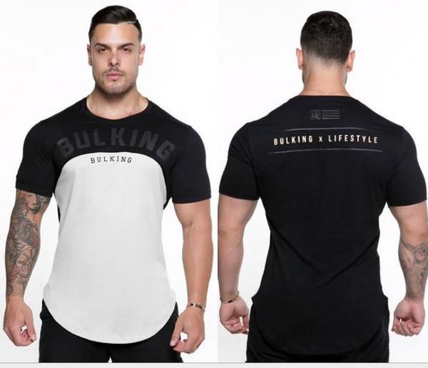 2019 spor Yeni Kas Erkek Spor Kardeşler Spor Kısa Kollu erkek Yuvarlak Boyun Streç Spor T-shirt Solunum Eğlence
